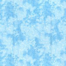 100% Cotton Powder Blue Mystic Vine Floral Print Fabric 44